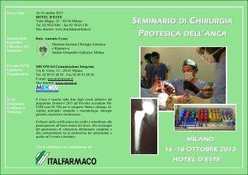 seminario di chirurgia protesica dell 'anca - gruppo ospedaliero san ...