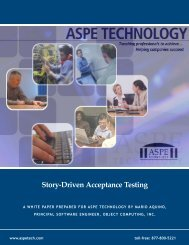 Story-Driven Acceptance Testing - ASPE