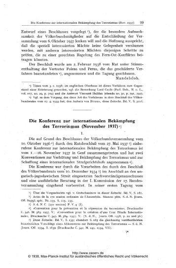 November 1937 - Zeitschrift für ausländisches öffentliches Recht ...