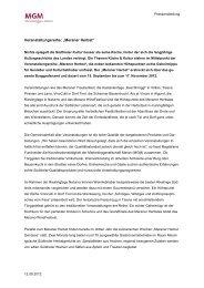 Pressemitteilung zur Veranstaltungsreihe Meraner Herbst - MGM