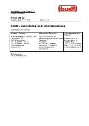 Relax DR 22 1 Stoff- / Zubereitungs- und Firmenbezeichnung