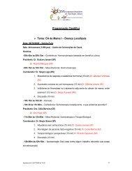 Programação Científica Tema: CA de Mama I Doença ... - ITpack