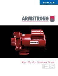 Series 4270 - Armstrong Pumps