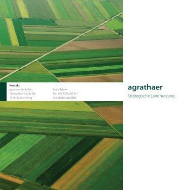 Flyer - Agrathaer | Strategische Landnutzung