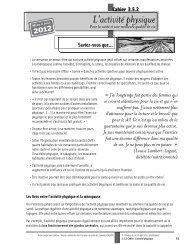 L'activité physique - Réseau québécois d'action pour la santé des ...