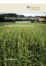 Strategic research agenda for organic food and farming