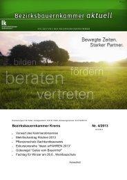 Bezirksbauernkammer Krems Nr. 4/2013 - Landwirtschaftskammer