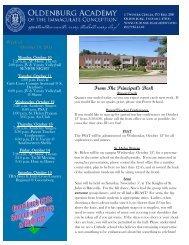 October 10 - Oldenburg Academy