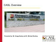 CASL Overview