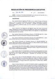 RESOLUCIÓN DE PRESIDENCIA EJECUTIVA - Servir