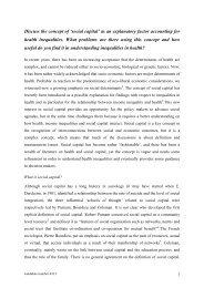 Concept of 'social capital' - Médecins du Monde
