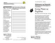 Iyong Plano sa Paglabas - UWMC Health On-Line - University of ...