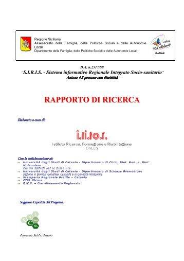 RAPPORTO DI RICERCA - Consorzio Sol.Co.