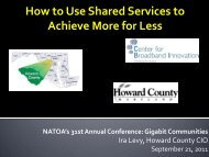 How to Use Shared Services to Achieve More for Less - NATOA