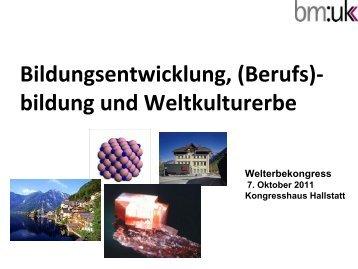 MinR Dr. Christian Dorninger - Welterberegion Hallstatt Dachstein ...