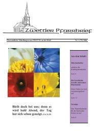 Pfarrbrief Nr. 1/2006 - Pfarre Zwettl an der Rodl - Diözese Linz
