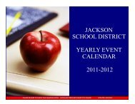 jackson school district yearly event calendar 2011 ... - Jacksonsd.org