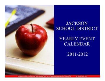 jackson school district yearly event calendar 2011 ... - Jacksonsd.org