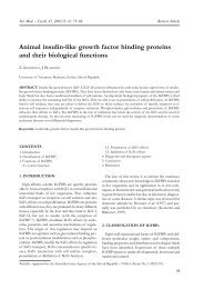 Animal insulin-like growth factor binding proteins and their biological ...