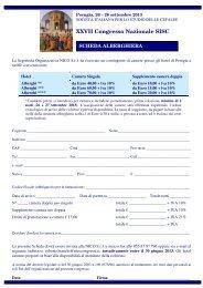 Scheda Alberghiera - Sisc