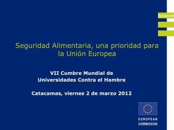 Sr. Peter Versteeg - Unión Europea - Universidad Nacional de ...