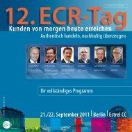 programm   foren, 22. september 2011 - ECR Tag - GS1 Germany