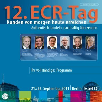 programm | foren, 22. september 2011 - ECR Tag - GS1 Germany