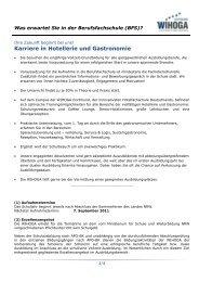 Karriere in Hotellerie und Gastronomie - WIHOGA Dortmund