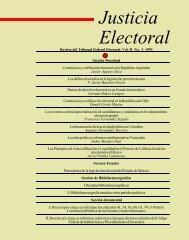 Justicia Electoral - Instituto de Investigaciones Jurídicas - UNAM