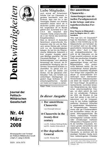 Denkwürdigkeiten Nr. 44 März 08 - Pmg-ev.com