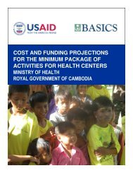 Cost and Funding Projections for the Minimum Package of ... - basics