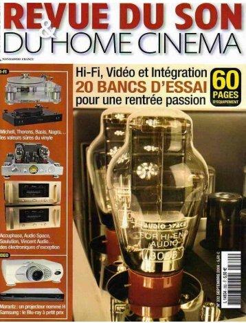 Test banc d'essai du bloc mono Vincent SP-995 dans la revue ...