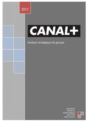 Analyse économique et stratégique du Groupe CANAL+ - Site Internet