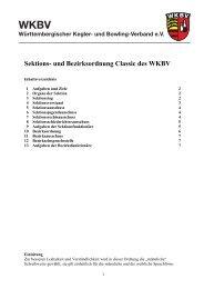 Sektionsordnung Classic - WKBV