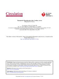 AHA Therapeutic Hypothermia After Cardiac Arrest January ... - sicoa