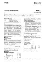 Packungsbeilage - diatools AG