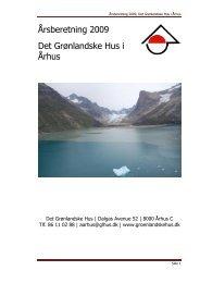 Hent årsberetning for 2009 - De grønlandske huse i Danmark