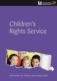 Children's Rights Service Guide - Leicestershire County Council