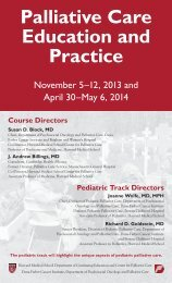Palliative Care Education and Practice - Harvard Medical School
