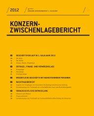 Konzern-Zwischenlagebericht (194 KB) - Konzernzwischenbericht 1