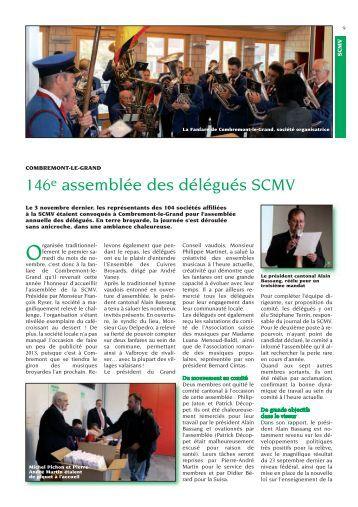 assemblée des délégués scmv 2012 - Société Cantonale des ...