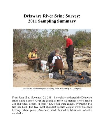 Delaware River Seine Survey - Division of Fish and Wildlife