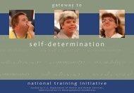 Gateway to Self-Determination Highlights - University of Kansas