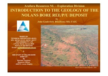 nolans bore geology i