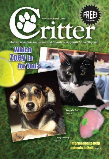Information to help animals in Haiti Page 5 - Critter Magazine