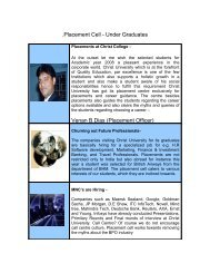 Placements at Christ College – Under Graduates - Christ University