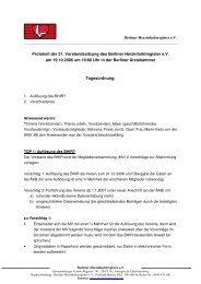 Protokoll der 21. Vorstandssitzung des Berliner Herzinfarktregister ...