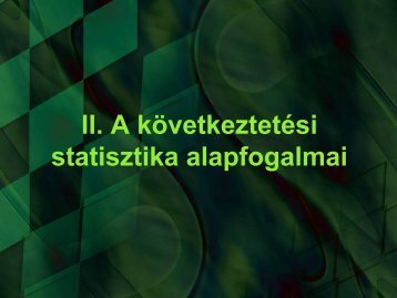 2012 – Matematikai statisztika 1.