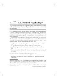 A Liberated Psychiatry?* - Peter Lehmann Publishing
