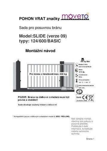 Návod k obsluze pro elektrický pohon - Deramax.cz